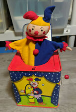 Schylling Original VTG 1997 Circus Clown Jack In The Box Musical Wind Up Toy