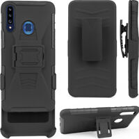 Cell Phone Case For Samsung Galaxy A20S With Belt Clip Holder Cover Anti-knock