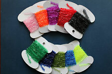 -- 10  Packs 10 Colors Cactus Chenille--Fly Tying Estaz Ice UV Sparkle And Flash
