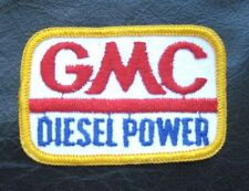 "GMC DIESEL POWER SEW ON PATCH YELLOW BORDER  GENERAL MOTORS 3"" x 2"" rectangle"