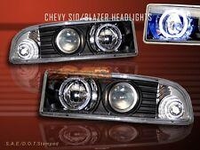 1998-2004 CHEVY S10/BLAZER JDM BLACK HALO PROJECTOR HEADLIGHTS NEW