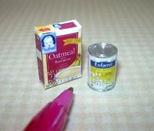 Miniature Infant Cereal Box and Formula Can, Brand: DOLLHOUSE Miniatures 1/12