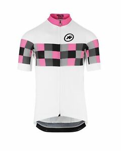 BNWT New Men's Assos SS Grand Prix EVO 8 Jersey Panther Pink Size S Small