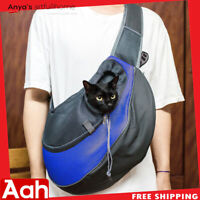 Comfortable Pet Carrier Bag Shoulder Bag Puppy's Outdoor Blue S