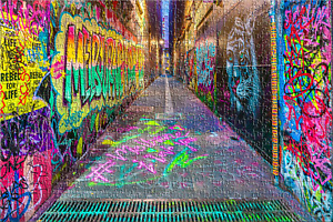 Melbourne Street Art 1000pc Jigsaw Puzzle by Melbourne I love you