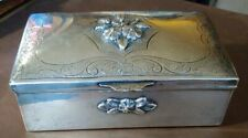 Mexican Solid Sterling Silver Trinket Box