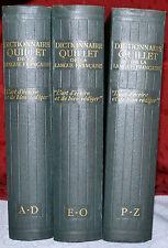 Dictionnaire Quillet de la langue française en 3 volumes 1949