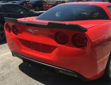 C6 Corvette 2005-2013 Unpainted Extended Spoiler (Wicker Bill)-No-Drill Design