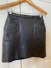 KAHLO Black Leather Mini Skirt - Size XS