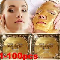 Premium Collagen Crystal Face Masks Anti Ageing Skin Care Gold White x5 x10 x100