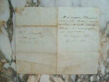 Lettre écrite au nom du Comte de Chambord, d'Angleterre.