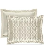 J Queen New York Satinique Quilted Standard Pillow Sham Natural $50