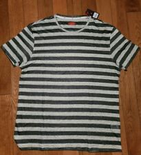 Isaia Striped  Linen and Cotton T-Shirt XXL  NWT