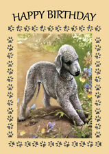 BEDLINGTON TERRIER DOG BIRTHDAY GREETINGS NOTE CARD
