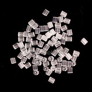 500Pcs Rubber Earring Back Stoppers Ear Post Nuts Jewelry Findings Wholesale