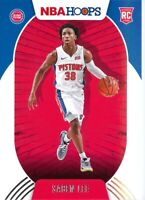 Saben Lee RC 2020-21 Panini NBA Hoops Base Rookie Card #206 Detroit Pistons