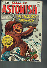 Tales To Astonish 24 Vg/4.0 - That's cold, Abominable Snowman!