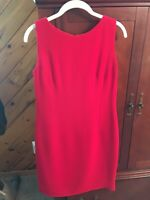 Talbots Women's Ponte Sheath Dress Red Size 10 Petite