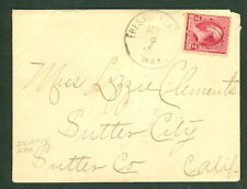 1891, Sutter City (Sutter Cty 1888-1895) CA DPO cover
