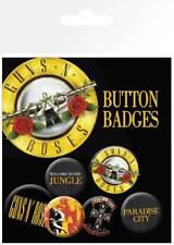 Guns & Roses logos - 6 Ansteck Buttons für Fans