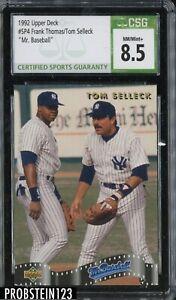 "1992 Upper Deck Frank Thomas HOF Tom Selleck ""Mr. Baseball"" CSG 8.5"