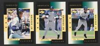 1998 SCORE COMPLETE PLAYERS GOLD PARALLEL #1 KEN GRIFFEY JR COMPLETE 3 CARD SET
