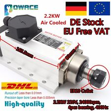 【EU】 2.2KW Square ER20 220V Air Cooled Spindle Motor 6A 24000rpm for CNC Router