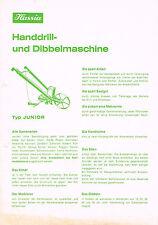 Hassia Handdrill- / Dibbelmaschine und Einradhacke, orig. Prospekt ca. 70er J.