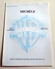 Partition sheet music GERARD LENORMAN : Michèle * 70's Barbelivien Cywie