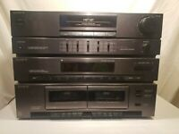 Sony HST221 Stereo Component System Rack Double Cassette Tape Equalizer Vintage