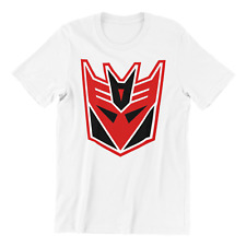 TRANSFORMERS VINTAGE DECEPTICON Logo Adult Men's Graphic Tee Shirt (Red)