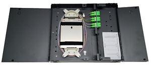 12 Fiber Wall Mount w/ 6 SC/APC Duplex Adapters, SM Pigtails & 1x12f Splice Tray
