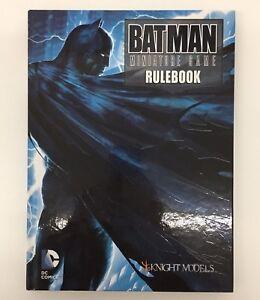 BATMAN MINIATURE GAME FIRST ED HARDBACK RULEBOOK DC COMICS KNIGHT MODELS 2015
