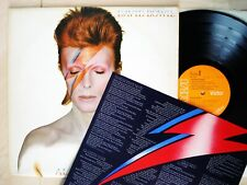 David Bowie Aladdin Sane + Insert -3T -3T UK LP RCA RS 1001 1973 EX/EX