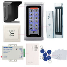 Waterproof Keypad Metal Access Control Systems 350lbs Magnetic Lock +Rain Shield