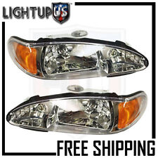 Headlights Headlamps Pair Left right set for 98-02 Ford Escort Tracer