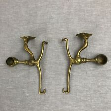 Antique Art Brass Co Heavy Bathroom Shelf & Towel Bar Brackets Victorian Deco