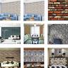 3D Ziegel Stein PVC selbstklebende Wand Aufkleber Panel Tapete Wohnzimmer Dekor
