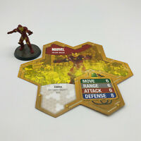 """Heroscape Marvel The Conflict Begins Iron Man Replacement 2"""" Figure With Card"""