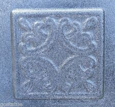 "plaster cement tuscan tile plastic mold  4"""