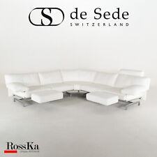 De Sede Sofa / Ledercouch weiß