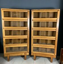 More details for pair staverton oak haberdashery cabinet bookcases