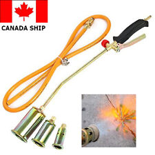 Portable Propane Torch Weed Burner Fire Starter Ice Melter Melting w/Nozzles HOT