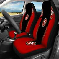 San Francisco 49ers 2PCS Car Seat Covers Protector Auto Truck Seat Decor Gifts