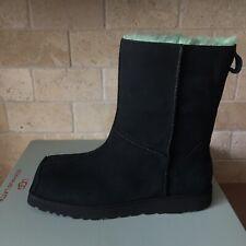 UGG + Eckhaus Latta Block Black Absinthe Lamb Suede Shearling Boot Size 9 Women