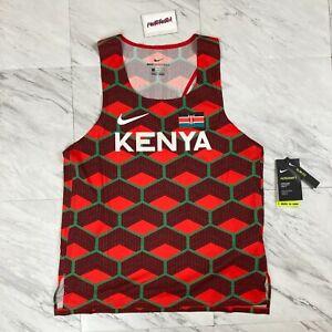 Nike Aeroswift Men's Size M Team Kenya ADV Running Singlet Tank Top CV0371-673