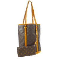 LOUIS VUITTON BUCKET GM SHOULDER TOTE BAG PURSE MONOGRAM M42236 AR0939 A53667