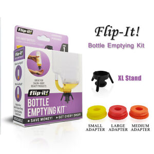 Flip-It! All In One Beauty Pack Dispenser Cap System - 4 Size Set No More Waste!