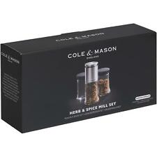 Cole & Mason Kingsley Herb and Spice Mill Gift Set, Stainless Steel, Glass