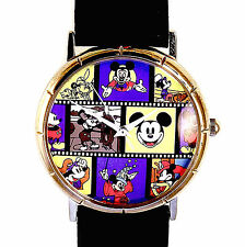 Mickey Disney Vintage Movie Character Roles Played Fossil unworn HTF Watch! $145